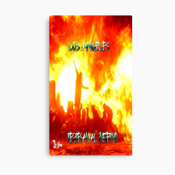 Los Angeles Return To Hell 2 Canvas Print