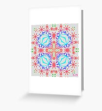 Neon Needlepoint Greeting Card