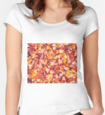Scarlet Leaves  Women's Fitted Scoop T-Shirt