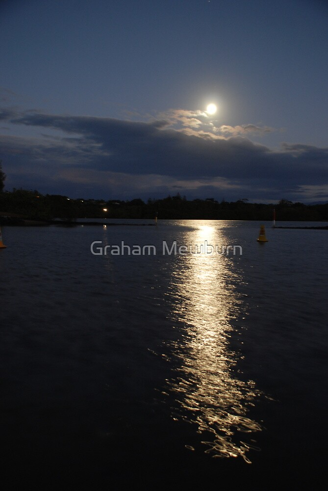 Moonscape at Fingal Head by Graham Mewburn