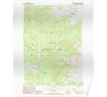 USGS Topo Map Oregon Rail Creek Butte 281216 1990 24000 Poster