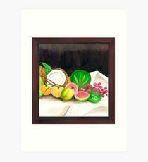 Puertorican Beach Grapes Plus Fruit Friends Art Print