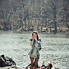 Girl On Phone by Steve Edwards