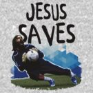 Jesus Saves ( SOCCER ) by mqdesigns13