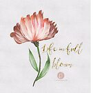 Life in full bloom-watercolour  by cardwellandink