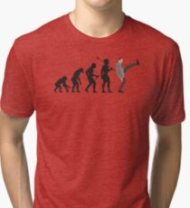 Evolution of Bean Tri-blend T-Shirt