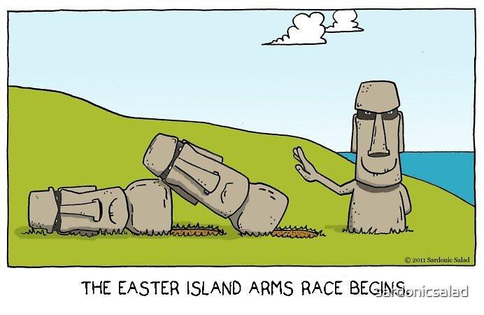 meanwhile on easter island... by sardonicsalad