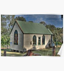 St Stephens Anglican Church, Hargraves, NSW, Australia  Poster