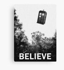 Believe - Police Box Canvas Print