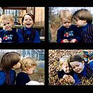 Brother and sister. A study in 4 photos by Daniel Sorine