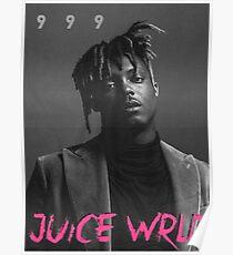 Juice Wrld 999 black white Poster