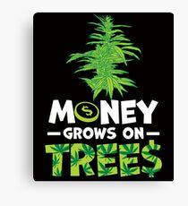 Savvy Turtle Money Grows On Trees Canvas Print