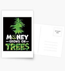 Savvy Turtle Money Grows On Trees Postcards