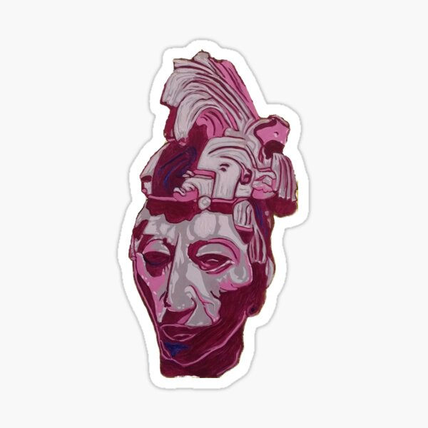 Lord Pakal Bust Sticker