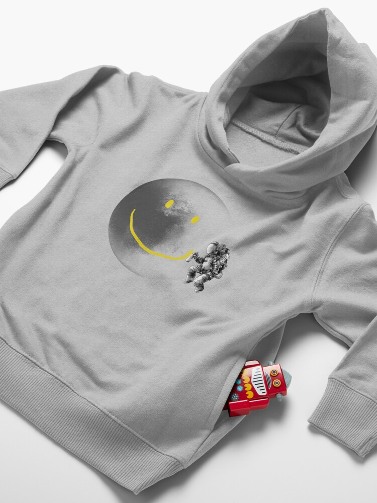 Alternate view of Make a Smile Toddler Pullover Hoodie