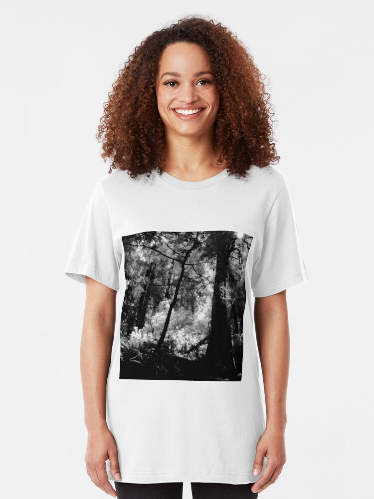 Alternate view of Hillside Trail, Muir Woods National Monument  Slim Fit T-Shirt