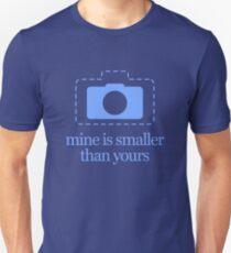 Mirrorless Cameras – Mine Is Smaller Unisex T-Shirt
