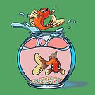 Happy Jumping Goldfish by a-roderick