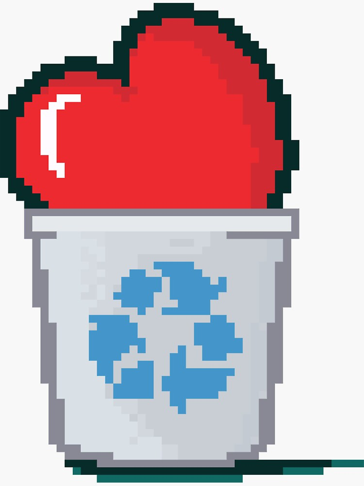 Pixel Heart Recycled by a-roderick