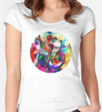 Psychedelic Circle Women's Fitted Scoop T-Shirt