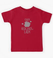 Crazy Hedgehog lady Kids Clothes