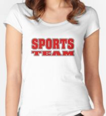 Go Sports Team! Women's Fitted Scoop T-Shirt