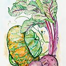 Red Beets and Squash by Annie Mason