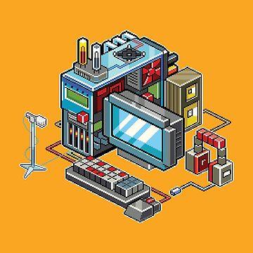 Retro computer by raynoa