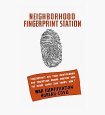 WPA -- Neighborhood Fingerprint Station Photographic Print
