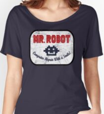 Mr Robot - Computer Repair With A Smile Women's Relaxed Fit T-Shirt