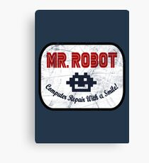 Mr Robot - Computer Repair With A Smile Canvas Print