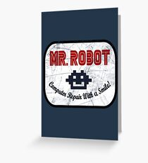 Mr Robot - Computer Repair With A Smile Greeting Card