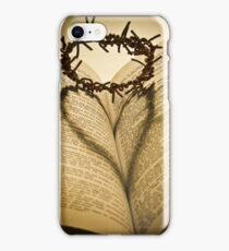 Crown Of Thorns with Open Bible iPhone Case/Skin
