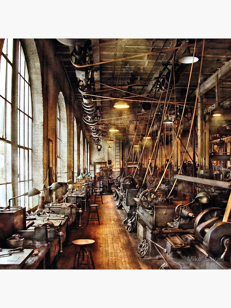 Machinist - Machine Shop Circa 1900's by mikesavad