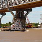 Tug Boat on The Mississippi River by Wanda Raines