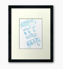 Engineering sketch Framed Print