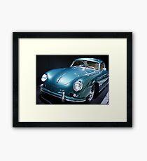 vintage porsche car Framed Print