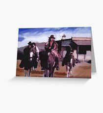 Saloon Drifters Greeting Card