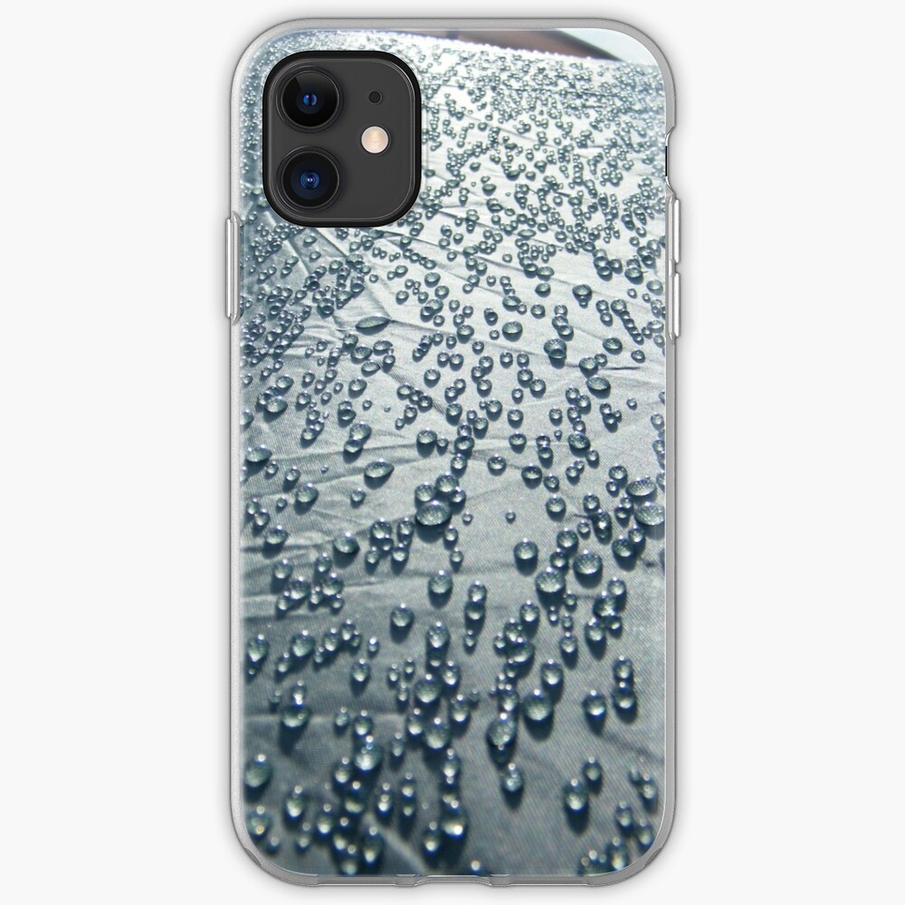 Rain on tent iPhone Case & Cover