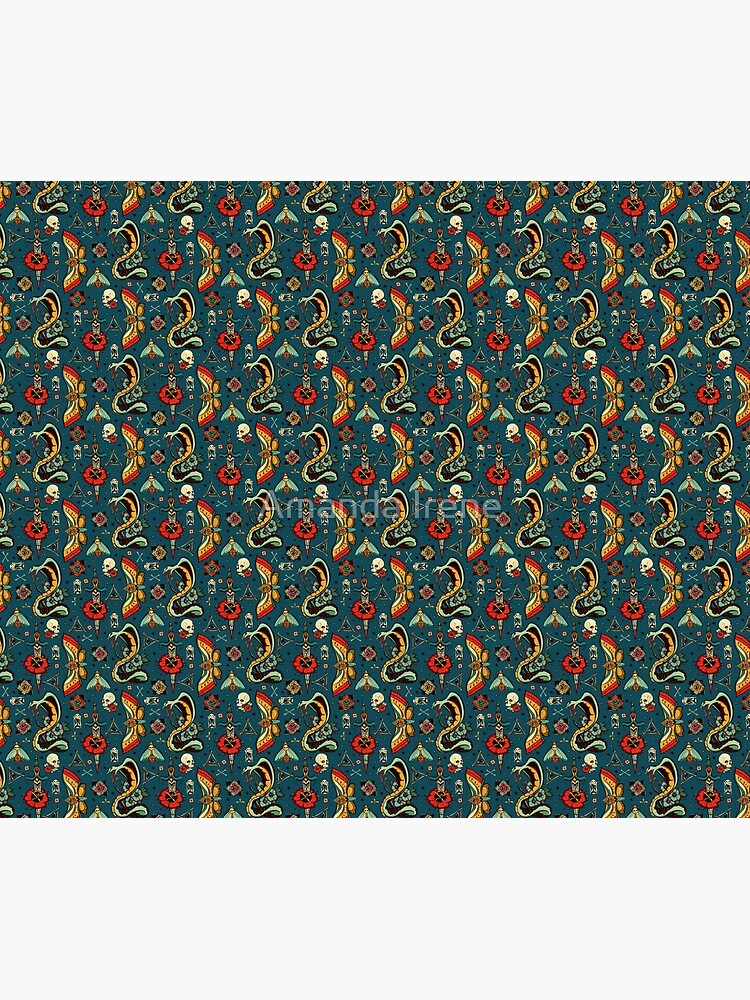 Blue Bold Eyes Pattern by IrenesGoodies