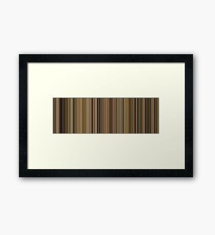Moviebarcode: Leon: The Professional / Léon (1994) [Simplified Colors] Framed Print