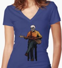 The Blues Women's Fitted V-Neck T-Shirt