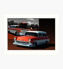 1956 Chevrolet 2 Door Station Wagon Art Print