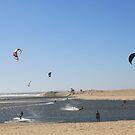 Foz do Arelho - seaside - kitesurfing by Peter Voerman
