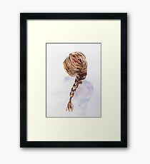 Pretty Blond Woman  Framed Print