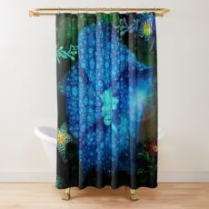 Night Time in the Garden Shower Curtain