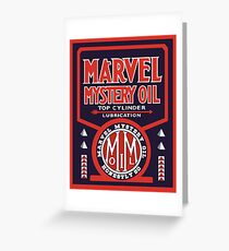Marvel Mystery Oil vintage sign reproduction Greeting Card