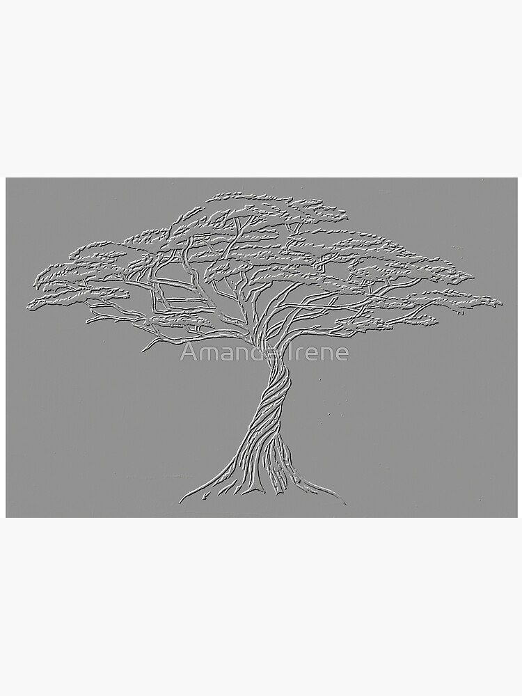 Silver Tree of Life , Zen African Bonsai Grey by IrenesGoodies
