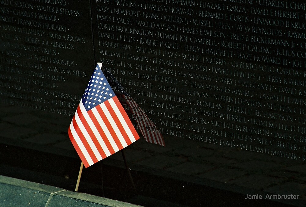 Reflections of the Vietnam Memorial by Jamie  Armbruster