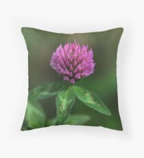 Red Clover - Trifolium pratense Throw Pillow